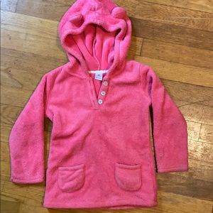 Carter's Coral Pink Hooded Fleece Pullover